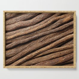 Licorice root in diagonal lines Serving Tray