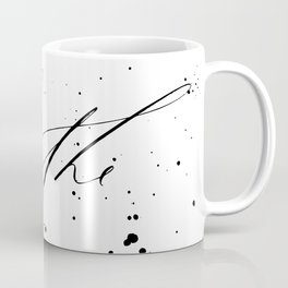 Breathe - Minimal & Splattered Calligraphy Coffee Mug