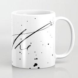 Breathe - Minimal & Splattered Calligraphy Coffee Mug