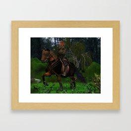 Stormy Knight Framed Art Print