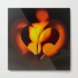 Beautiful Evening in Autumn - Heart Shape with Bokeh Light #decor #society6 #buyart Metal Print