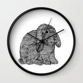 Norah the Bunny  Wall Clock