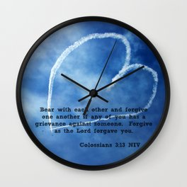 Colossians 3:13 Wall Clock