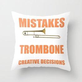 Funny Trombone Music Instrument Trombonist design Throw Pillow