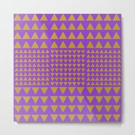 Golden Triangles Purple Metal Print
