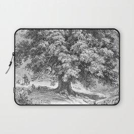 Linden Tree Print from 1800's Encyclopedia Laptop Sleeve