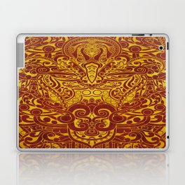 Balinese abstract art Laptop & iPad Skin