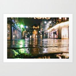 wet brickroad Art Print