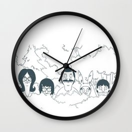 Belchers behind bushes Wall Clock