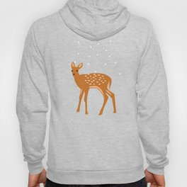 Baby Deer and Snow Hoody