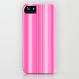 Pink Candy Stripe iPhone Case