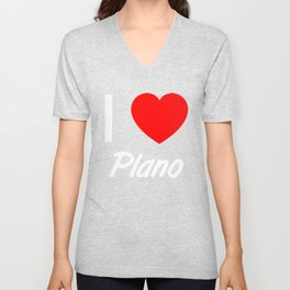 I Love PLANO Pride Country Vacation T Shirt Unisex V-Neck