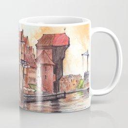 Gdansk watercolor illustration Coffee Mug