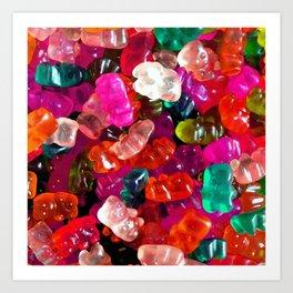 Yummy Gummies Art Print