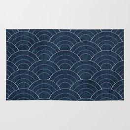 Sashiko Pattern Rug