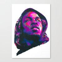 kendrick lamar Canvas Prints featuring KENDRICK LAMAR : NEXTGEN RAPPERS by mergedvisible