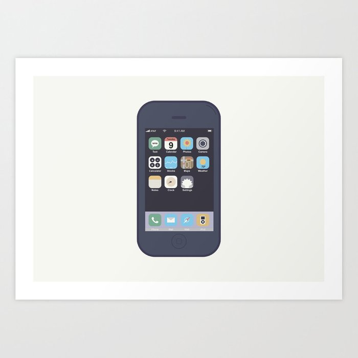 iPhone Art Print