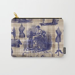 Vintage Sewing Toile Carry-All Pouch