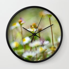 Hight mountains flowers Wall Clock