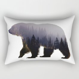 Forest Bear Wild Animal Rectangular Pillow