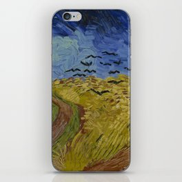 Wheatfield with Crows iPhone Skin