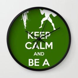 Keep Calm and Be a Superhero Wall Clock