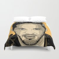 mad max Duvet Covers featuring Mad Max Fury Road by Just Jolt