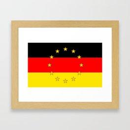 German European Union Flag Framed Art Print