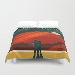 SpaceX Mars tourism poster / DP Duvet Cover