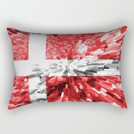 Extruded Flag of Denmark Rectangular Pillow