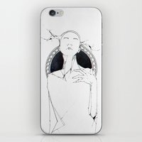 lama iPhone & iPod Skins featuring lama by Lisseau Design Lab