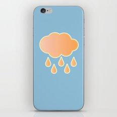 orange cloud, rainy day and blue background iPhone Skin