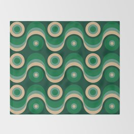 70s Optical Wallpaper Throw Blanket