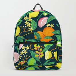 citrus fruits print Backpack