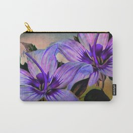 Vintage Painted Lavender Lily Carry-All Pouch