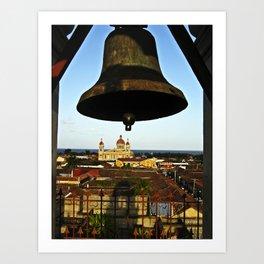 Bell Tower View, Granada, Nicaragua Art Print