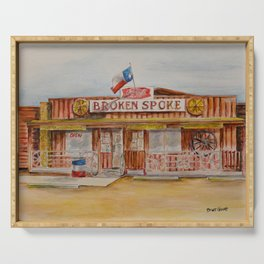 The Broken Spoke - Austin's Legendary Honky-Tonk Watercolor Painting Serving Tray