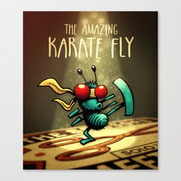 Karate Fly Canvas Print