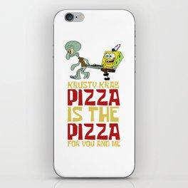 Krusty Krab Pizza iPhone Skin