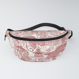 chinoiserie toile red Fanny Pack