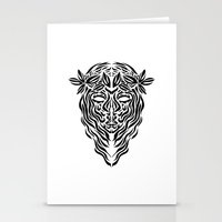 virgo Stationery Cards featuring Virgo by Mario Sayavedra