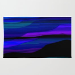 Capture the Moment Landscape in Blue Purple and Green Rug