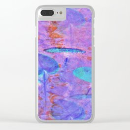 Upton Lily Pads Clear iPhone Case
