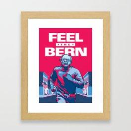 Feel The Bern Framed Art Print