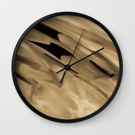 Running Golden Wall Clock