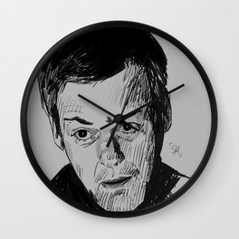 Greg Lestrade Sketch Wall Clock