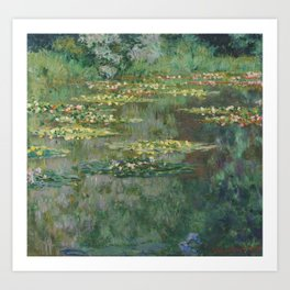 Monet, Le Bassin des Nympheas, 1904 Art Print