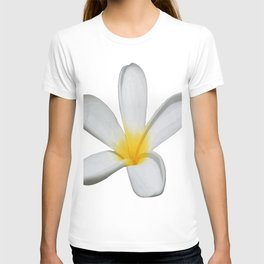 A Single Plumeria Flower Isolated T-shirt