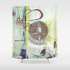 Exploration: Ornithology Shower Curtain