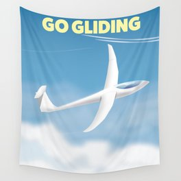 Go Gliding - Gliding sports travel poster. Wall Tapestry